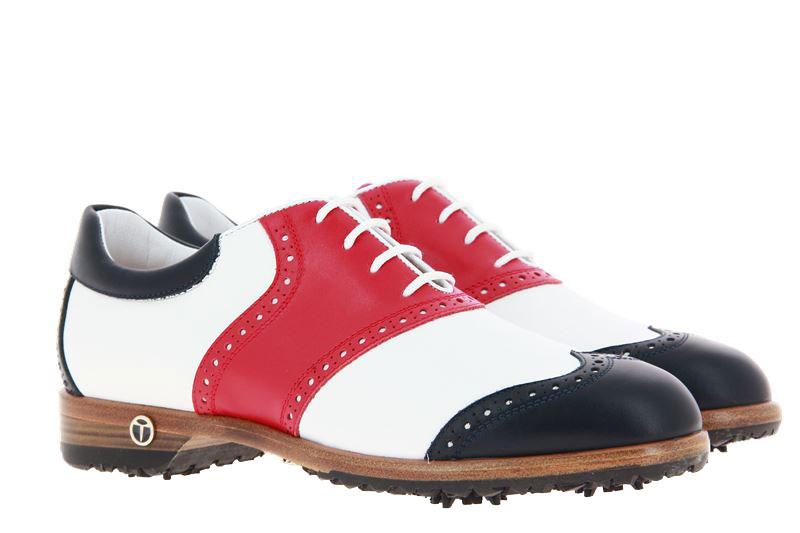 Tee Golf Shoes Damen- Golfschuh SUSY BLU BIANCO ROSSO (39½)