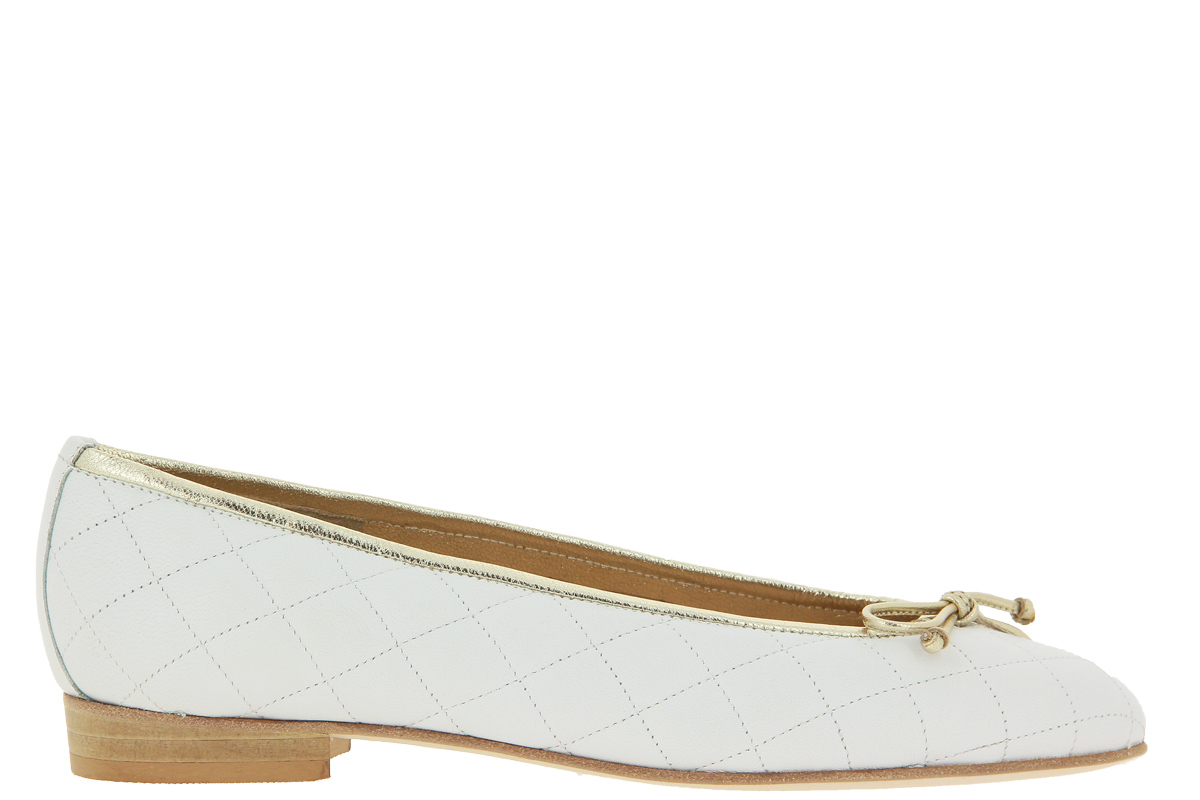 Lorbac Ballerina MEFY QUILTED WHITE ORO