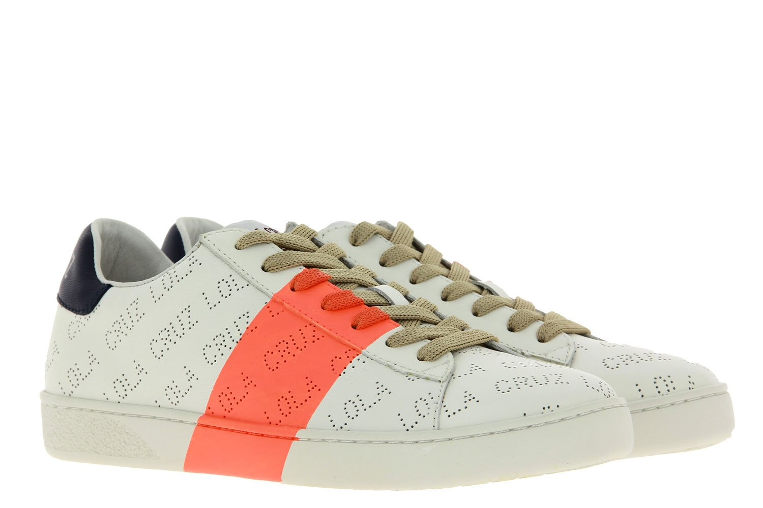 Lola Cruz Sneaker NAPPA ORANGE WHITE (41)