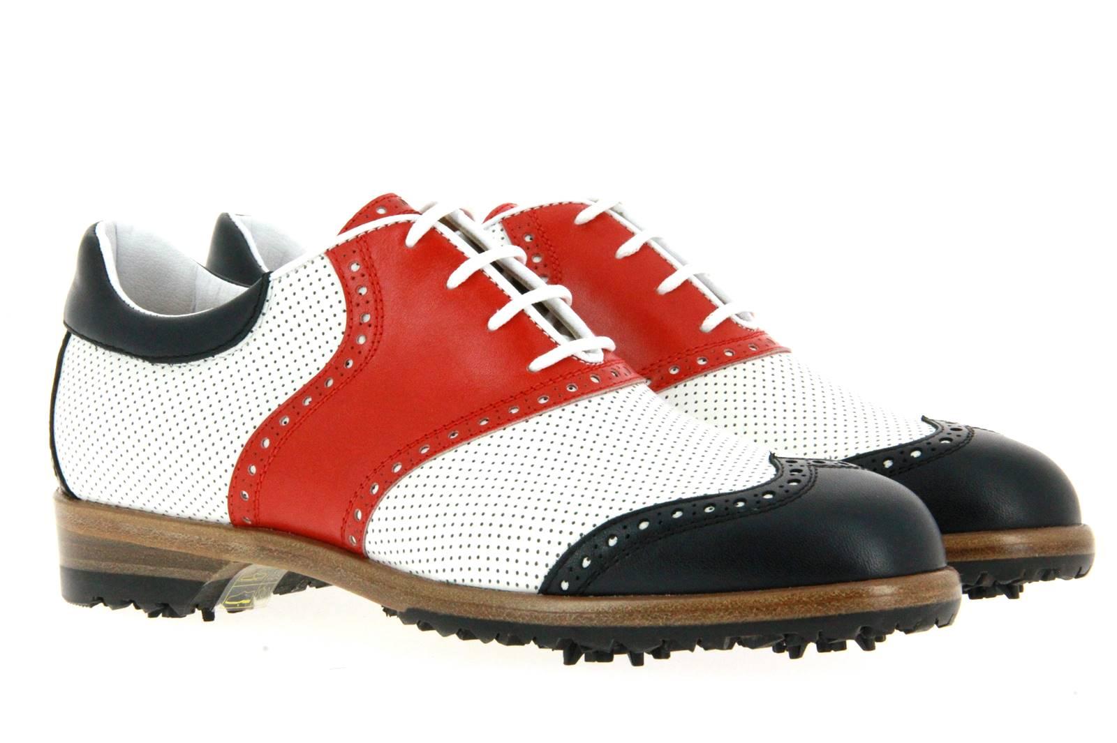 Tee Golf Shoes Damen- Golfschuh SUSY PERFORATO BLU BIANCO ROSSO (36½)