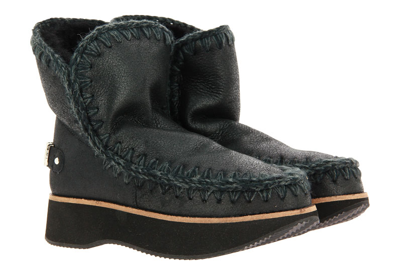 MOU Boots RUNNING ESKIMO 18 LOGO CRACKED BLACK GREY (36)