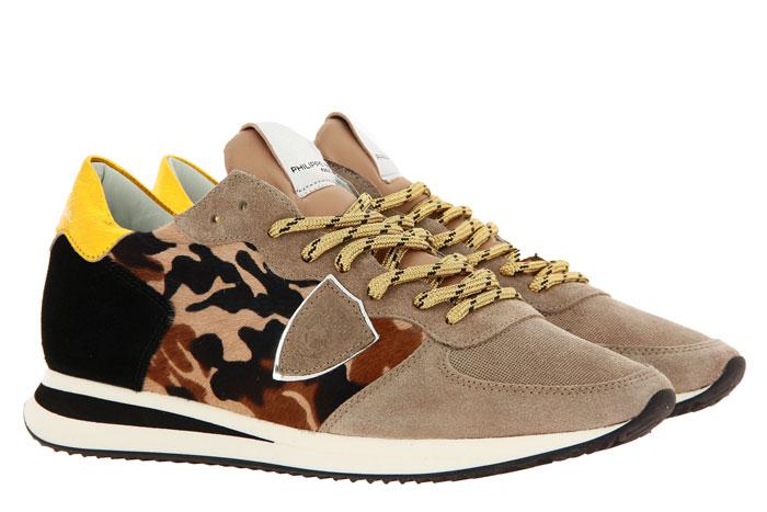 Philippe Model Sneaker TROPEZ PONY CAMOUFLAGE BEIGE  (40)