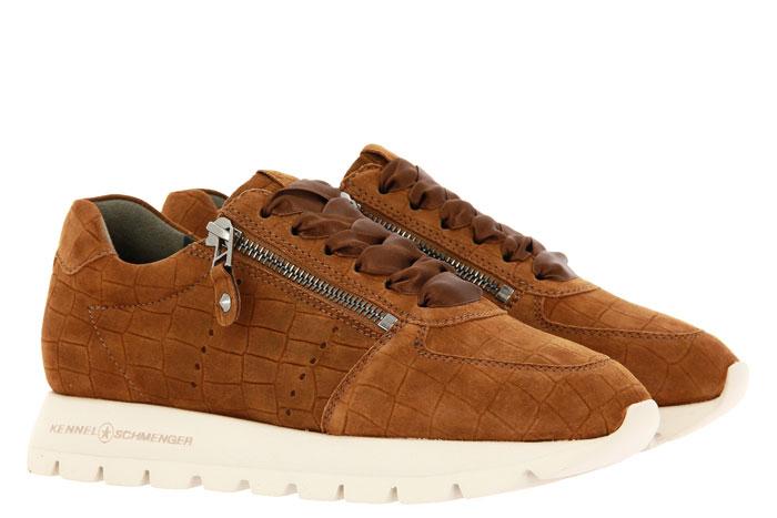 Kennel und Schmenger Sneaker RISE X KROKO SUEDE WOOD (37½)