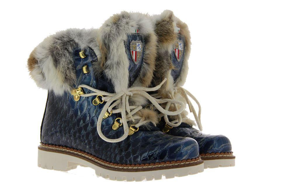 New Italia Shoes Stiefelette KANNINCHENFELL JEANS GLITTER (42)