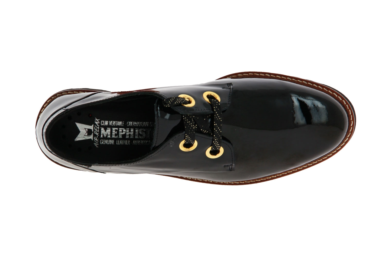 Mephisto Schnürer SANCHA BLACK VERNIS  (41)