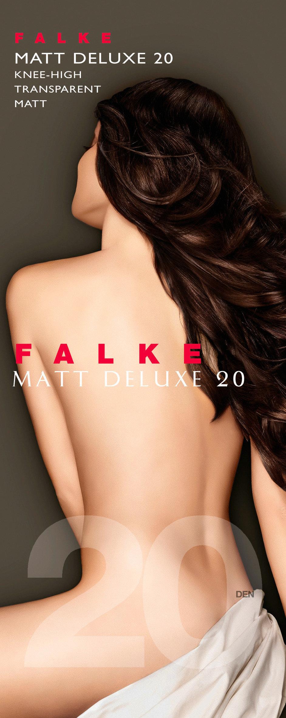 FALKE Matt Deluxe 20 DEN Damen Kniestrümpfe BLACK