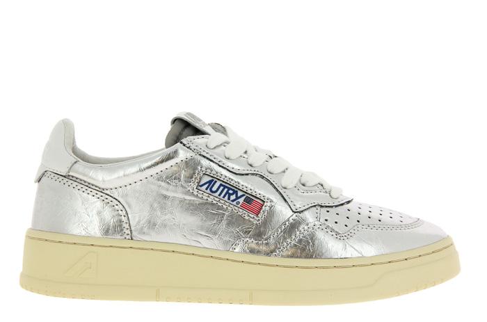 Autry Sneaker LOW WOMAN LAMINATO SILVER