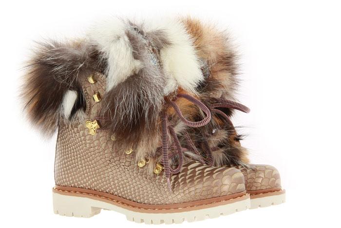 New Italia Shoes Stiefelette gefüttert REPTIL-OPTIK HUMUS (39)