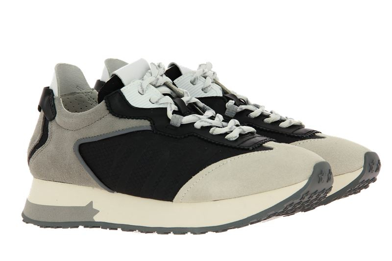 ASH Sneaker TIGER CALF SUEDE SALT BLACK WHITE (37 )