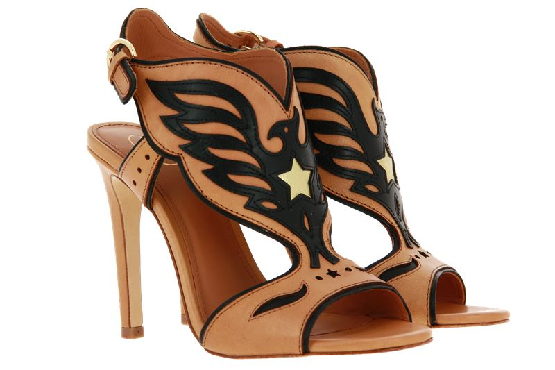 ASH High Heels GALAXY SOFT BRASIL NUDE BLACK ARIEL GOLD (37 )