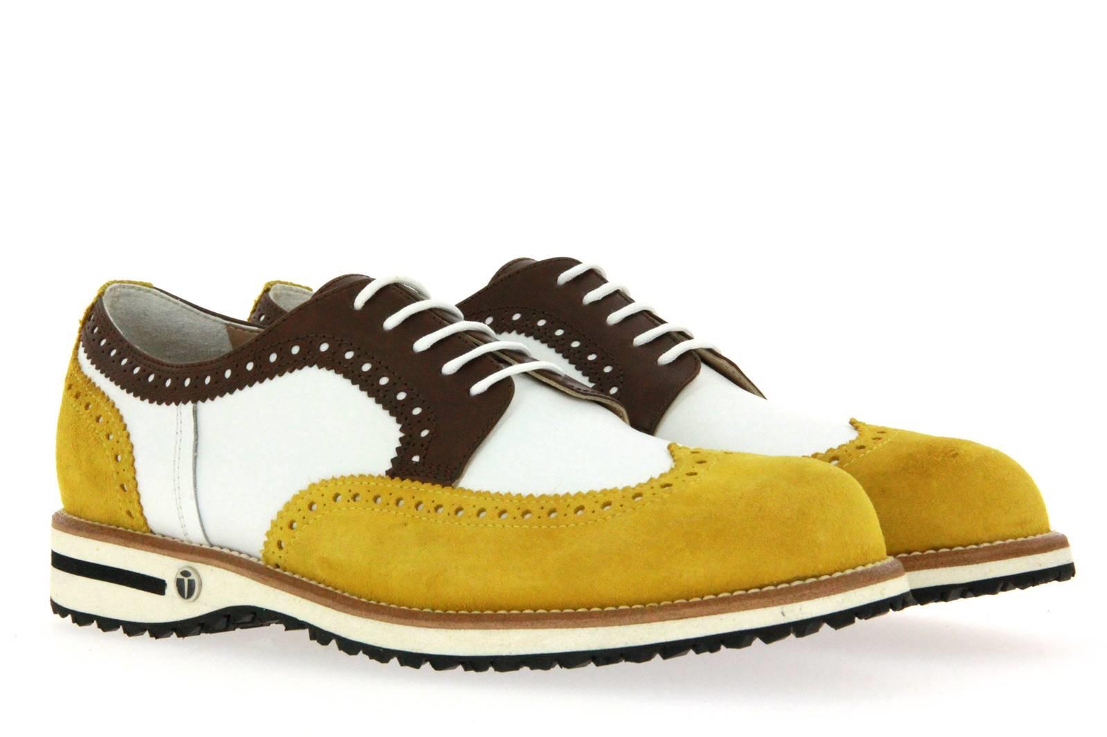 Tee Golf Shoes Herren- Golfschuh JASON SUN VITELLO WP BIANCO MORO (44)