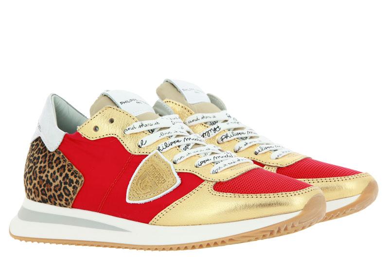 Philippe Model Sneaker TROPEZ MONDIAL LEO ROUGE ORO (42)