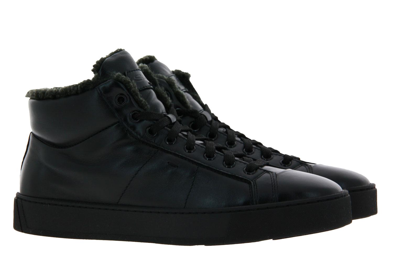 Santoni Sneaker gefüttert NAPPA NERO (43½)