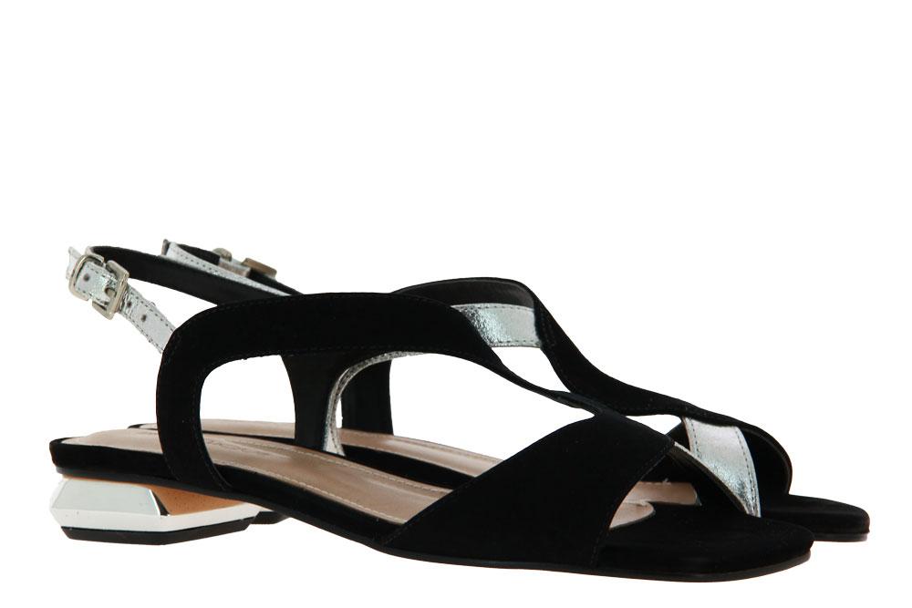 Unique Sandale MARIANA CRISTAL PRATA NOBUCK PRETO (36)