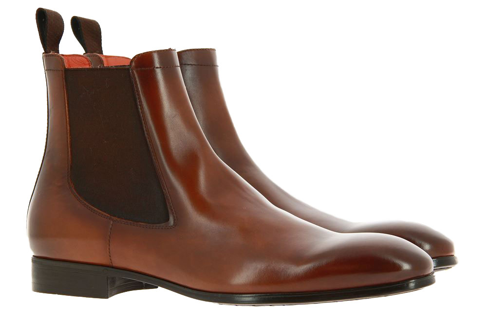 Santoni Chelsea Boot LEATHER BROWN (42½)