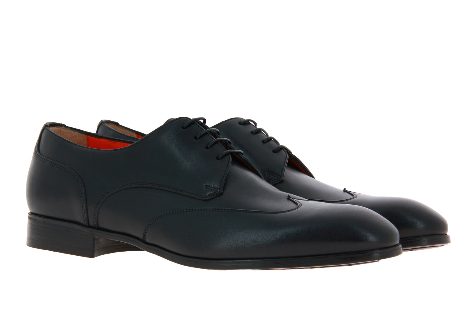 Santoni Schnürer LEATHER BLACK (41½)