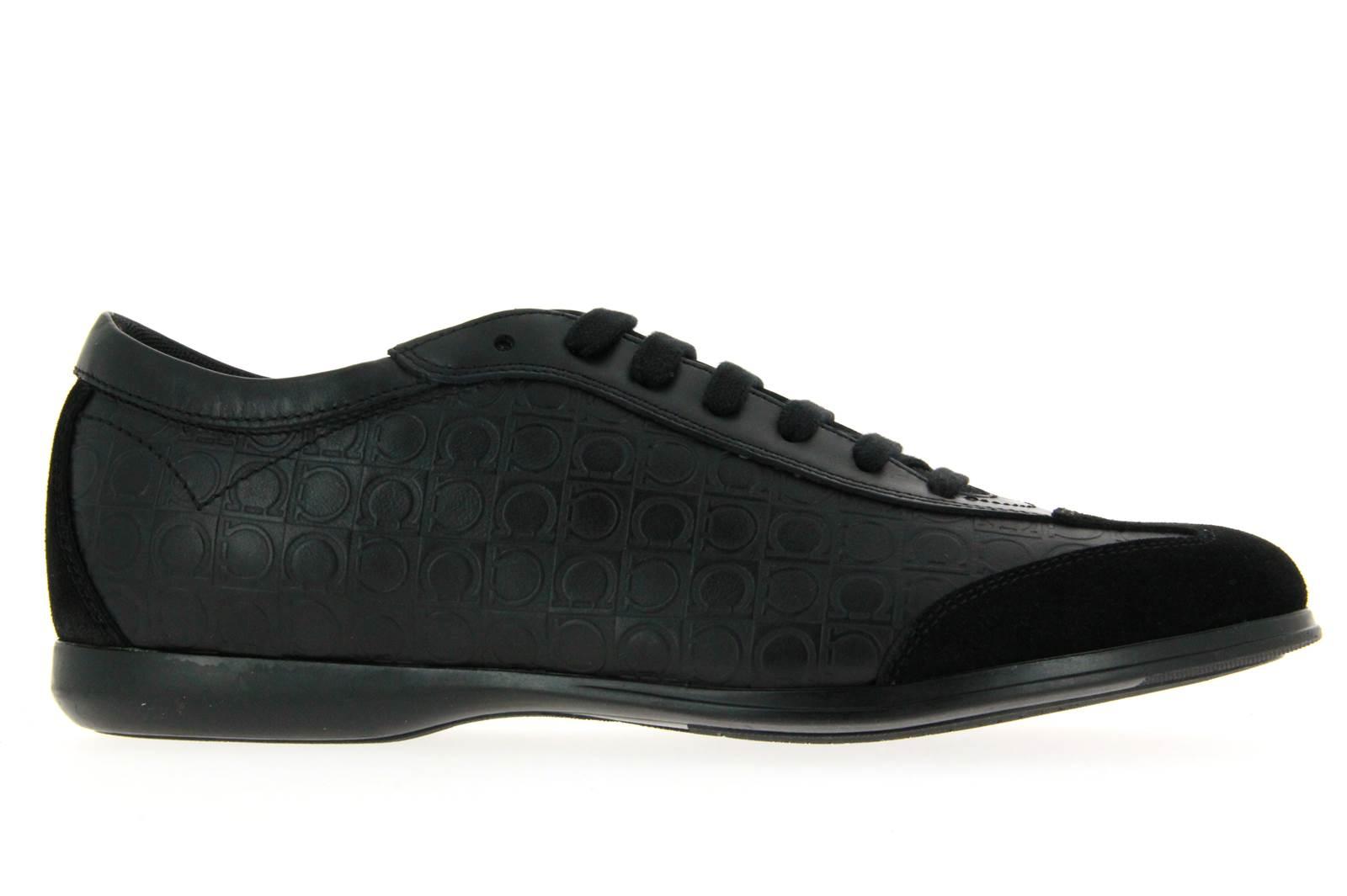 Salvatore Ferragamo Sneaker - FALKLAND NERO SUEDE CALF (39)