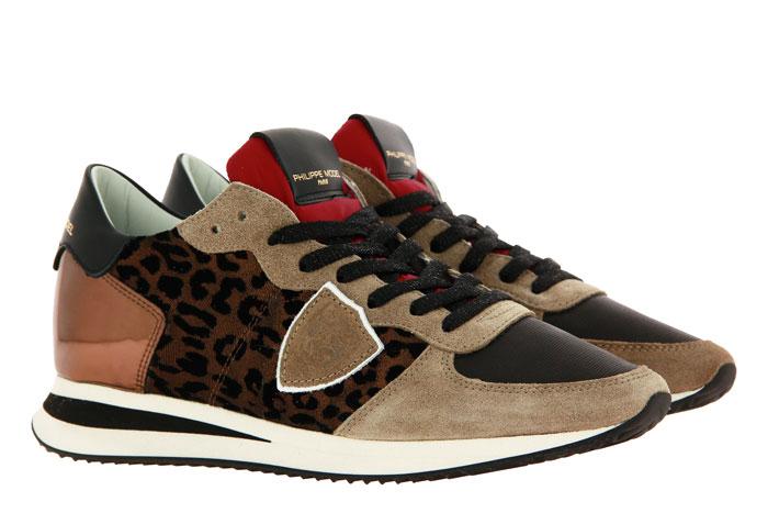 Philippe Model Sneaker TROPEZ LEO FLOCK BEIGE BRONZO (42)
