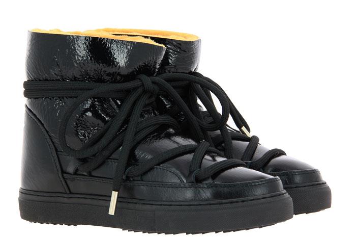 INUIKII Sneaker Boots PATENT BLACK YELLOW (40)