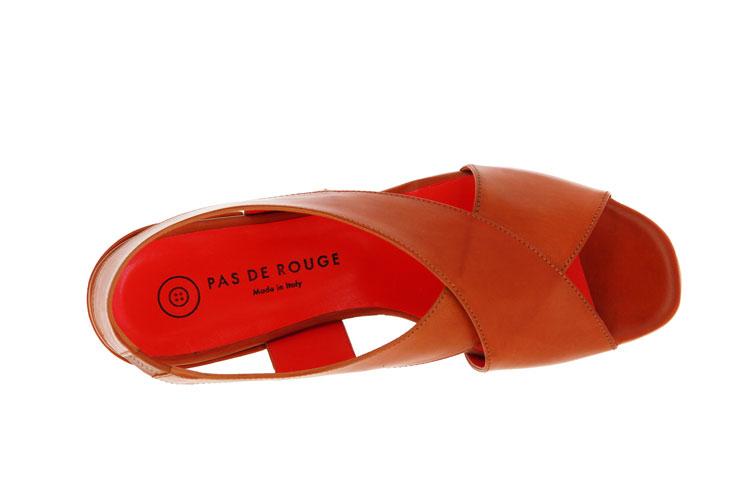 Pas de rouge Sandale FLEUR PARMA CUOIO (38)