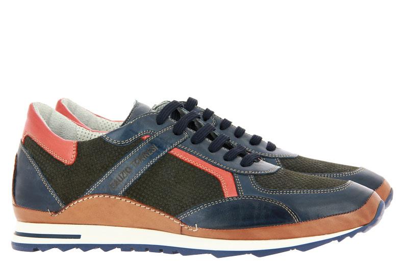 Galizio Torresi Sneaker FOULARD BLU SETA MIME (42)