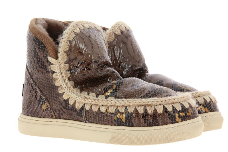 mou Boots ESKIMO SNEAKER SNAKE ELEPHANT GREY (38)
