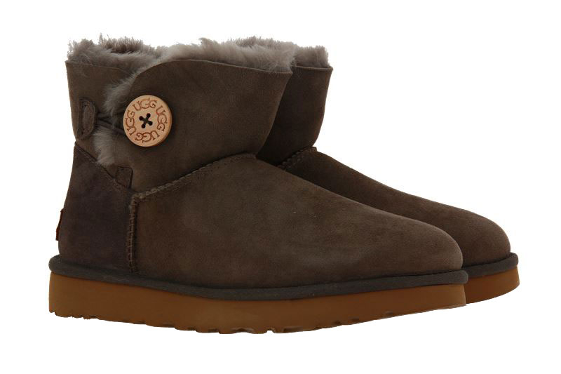 UGG Australia Boots MINI BAILEY BUTTON II MOLE  (41)