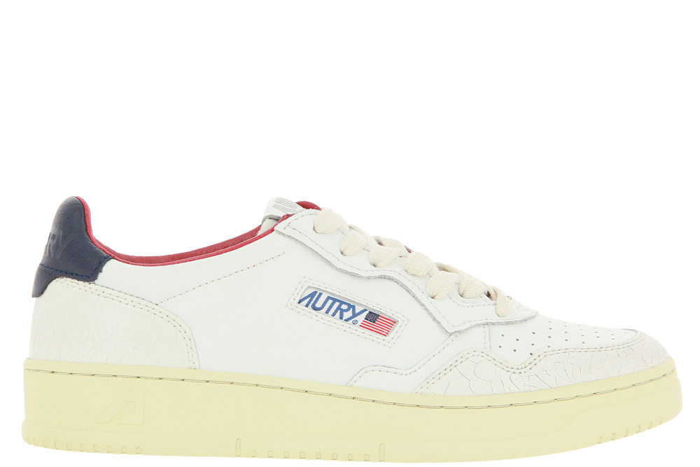 Autry Sneaker LOW MAN LEATHER CRACK WHITE BLUE