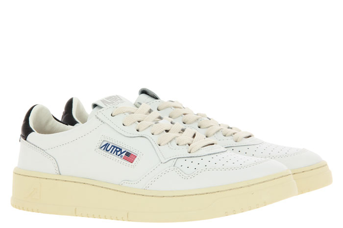 Autry Sneaker LOW MAN LEATHER WHITE/BLACK (45)
