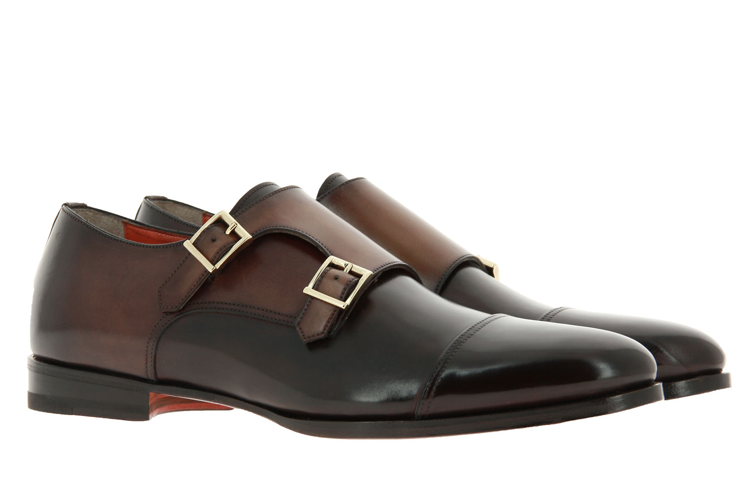Santoni Monk LEATHER BROWN (42)