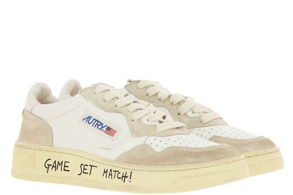 Autry Sneaker MEDALIST CRACKLE WHITE