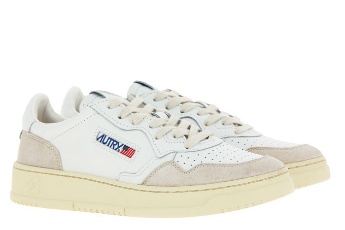 Autry Sneaker LOW MAN LEATHER SUEDE WHITE (45)