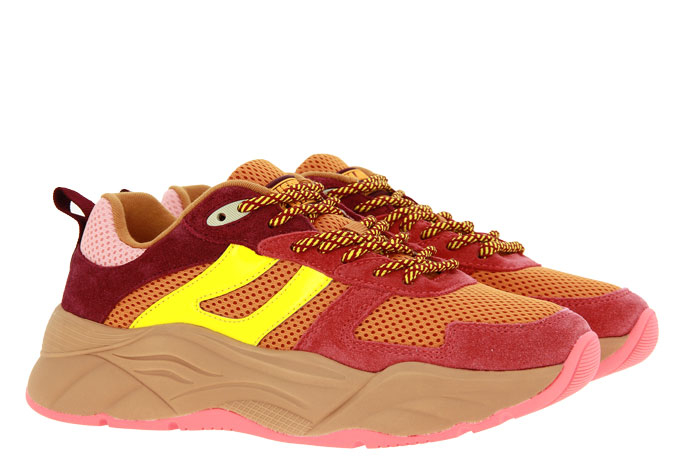 Scotch & Soda Sneaker CELEST SUEDE MESH RED ORANGE MULTI (36)