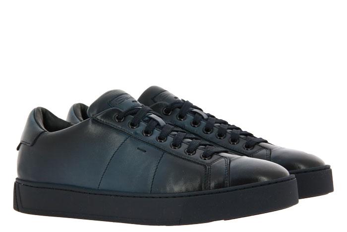 Santoni Sneaker NAPPA BLU (44)