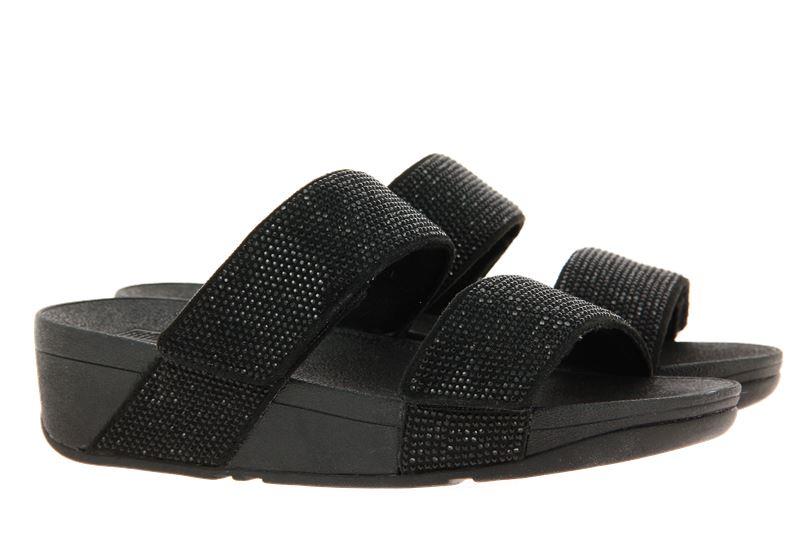 Fitflop Pantolette MINA CRYSTAL SLIDES BLACK (42)